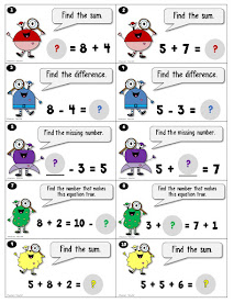 FREE Simple Addition and Subtraction Task Cards