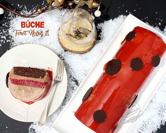 buche noel chocolat cerise
