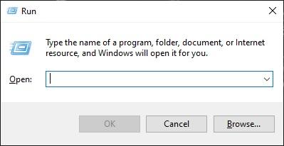 Nha..untuk membukanya lewat perintah RUN, Sobat klik secara bersamaan logo windows pada keyboard dan R. Jika berhasil maka akan muncul tab RUN.