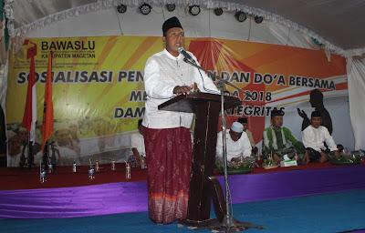 Harapkan Pemilu Damai, Panwaslu Kabupaten Magetan Gelar Doa Bersama