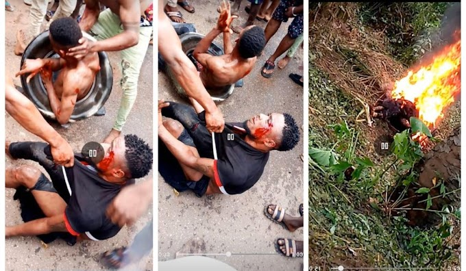 Angry Mob Burnt Two Boys To Dead For Stealing (watch video)