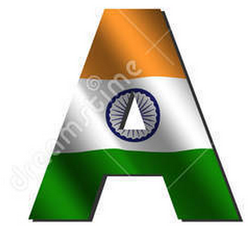 A letter tiranga,indian flag in alphabet A