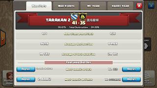 Clan TARAKAN 2 vs #YUQ2V9, TARAKAN 2 Victory