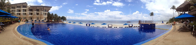 Bellevue Resort poolside view of Doljo Beach Panglao Island Bohol Central Visayas Philippines