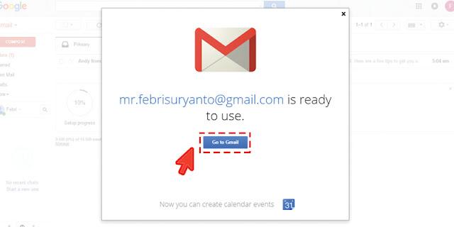 Tampilan Awal Akun Gmail Baru Anda