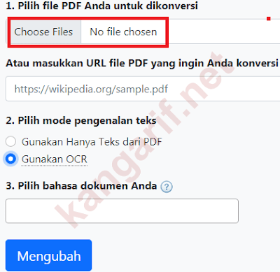 klik choose files