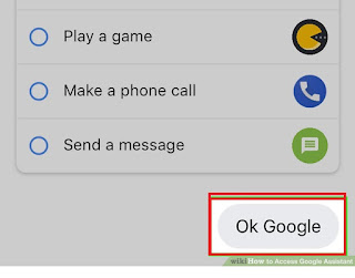 "Give commmand to google assistant by saying ""OkGoogle"""