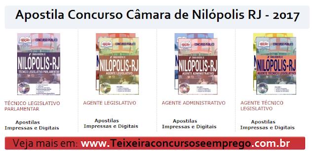 Apostila Câmara de Nilópolis todos os cargos completa.