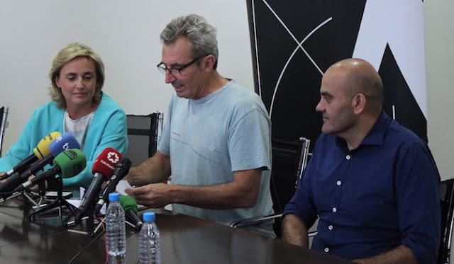 Mariano Barroso, Rafael Portela y Eva Sanz del Real