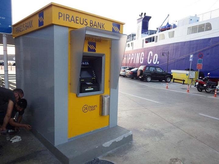 Τοποθετήθηκε νέο ΑΤΜ της Piraeus Bank στο λιμάνι της Σκύρου