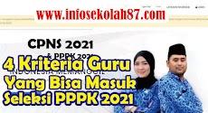 4 Kriteria Guru Honorer Yang bisa Mengikuti Seleksi PPPK 2021