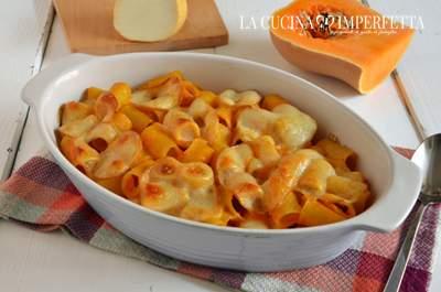 Pasta al forno con zucca e scamorza affumicata