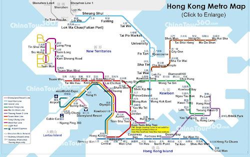 Mapa do metrô de Hong Kong