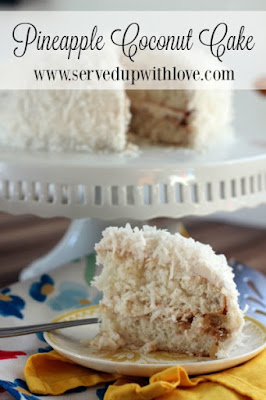 Pineapple Coconut Cake recipe from Served Up With Love