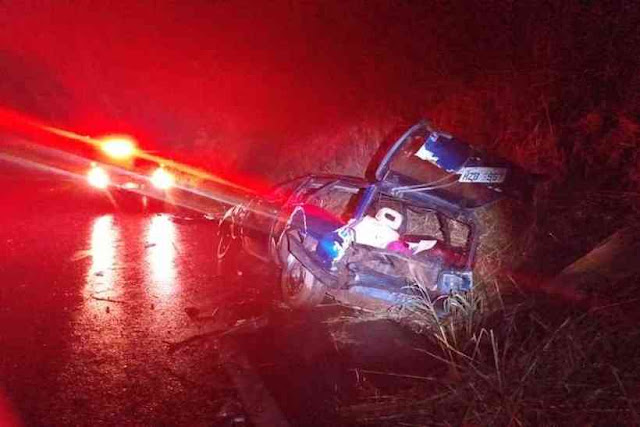 Acidente entre dois carros deixa seis feridos na BR-251