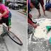 Isang Tindero ng Binatog, Nabunggo ng Tricycle; Driver, Tumakbo!