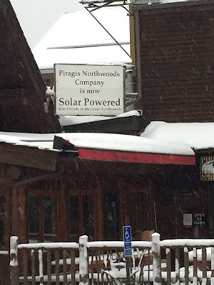 solar powered business, Ely, Minnesota