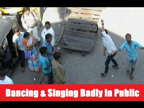 Dancing and singing badly in public own creation of Banana People Comedy