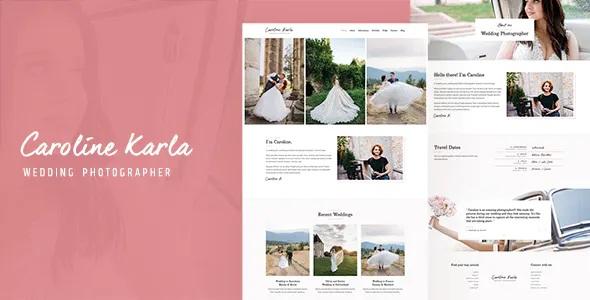 Best Minimal Wedding Photography Template
