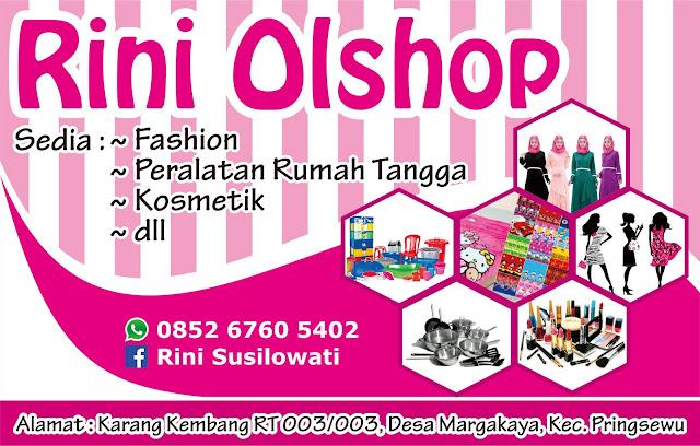 Desain Banner Online Shop Rini Olshop
