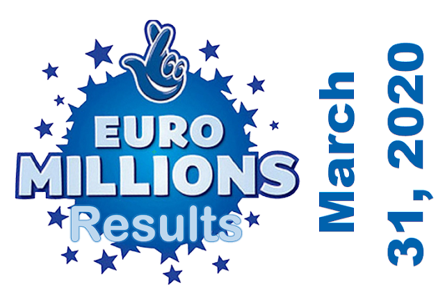 EuroMillions Results for Tuesday, March 31, 2020