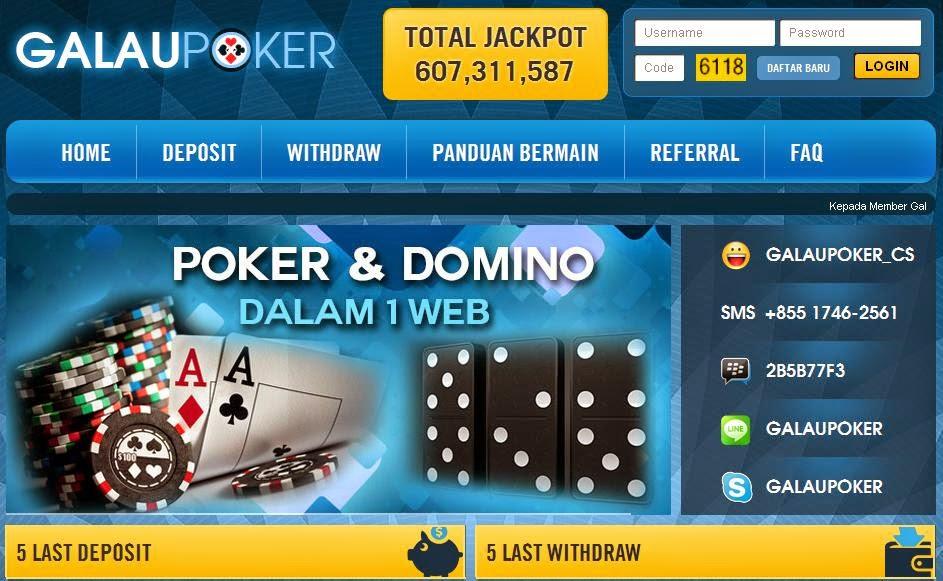 Poker Dan Domino Taruhan Poker Dan Domino Uang Asli Terpercaya