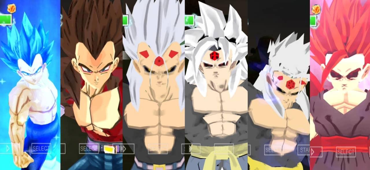 Dragon Ball AF Vs Super Vegeta all forms