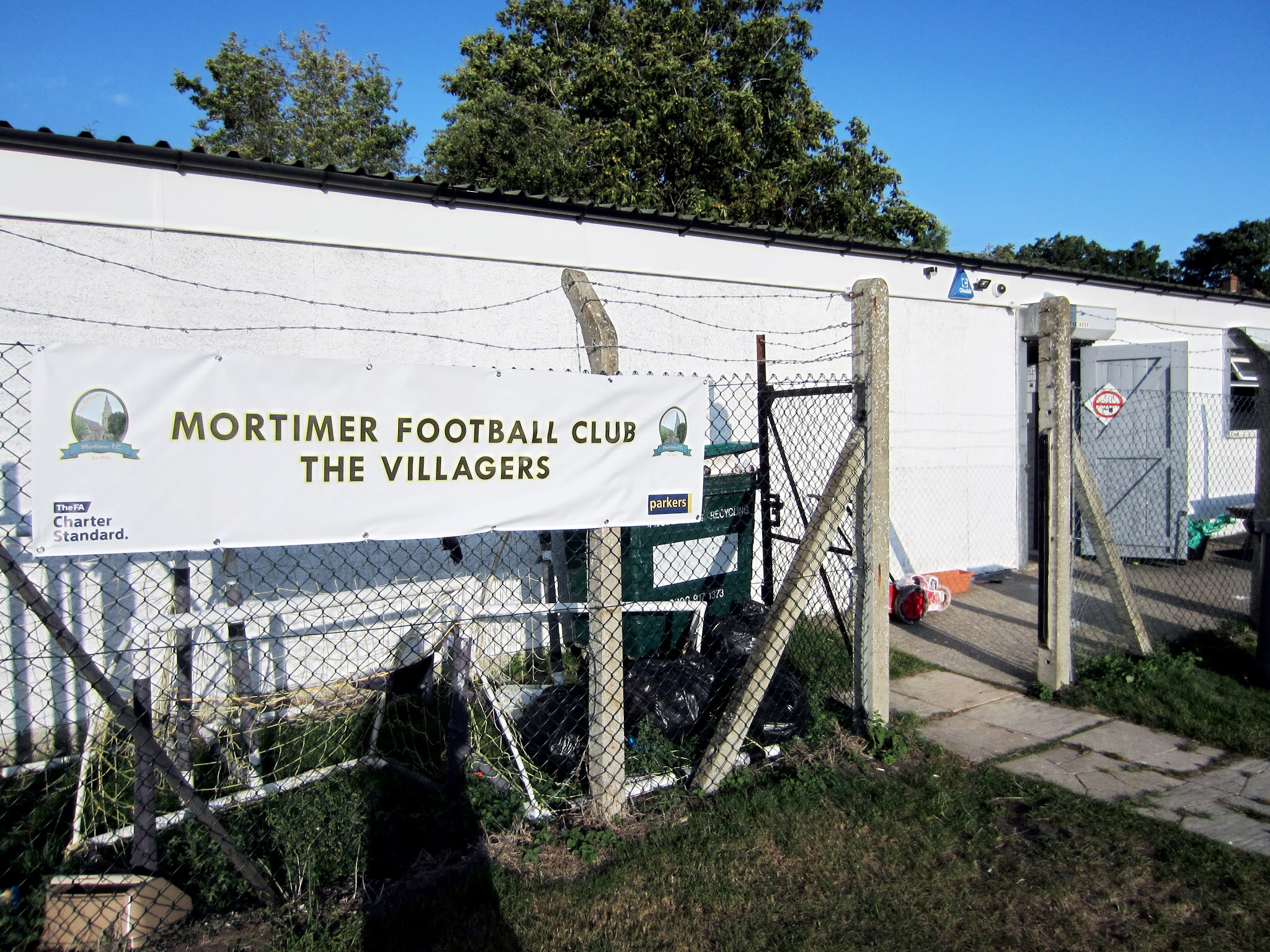 The Mortimer FC dressing rooms