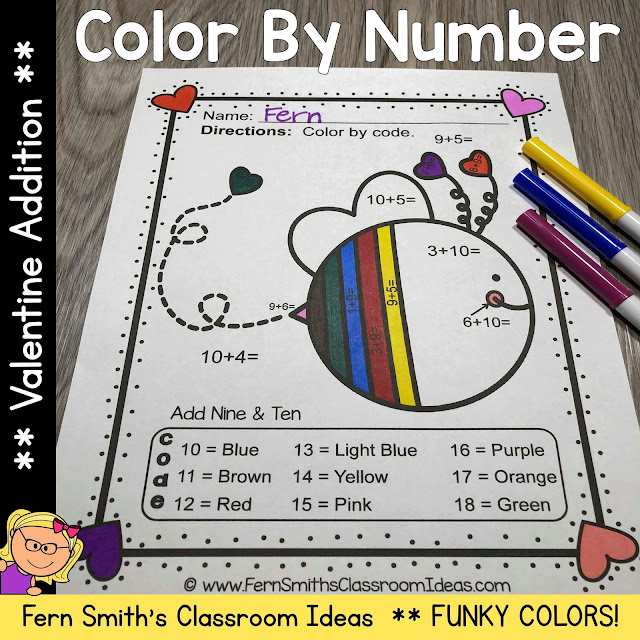 You will love the no prep, print and go ease of these St. Valentine's Day Color By Number Addition, Subtraction, Multiplication, and Division FUNKY Valentines Themed Printables. This FUNKY St. Valentine's Day Color By Number Addition, Subtraction, Multiplication, and Division Printables include 20 pages for introducing or reviewing addition, subtraction, multiplication, and division. This bundle is perfect for differentiation in ESOL, ESL, Home Schooling and Special Education Classes.