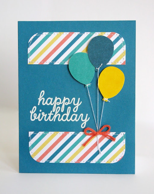 Birthday Card using Stampin' Up Paper Pumpkin May 2015 Kit by Mendi Yoshikawa