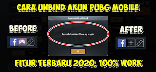Cara Unlink / Unbind Akun PUBG Mobile Terbaru 2020