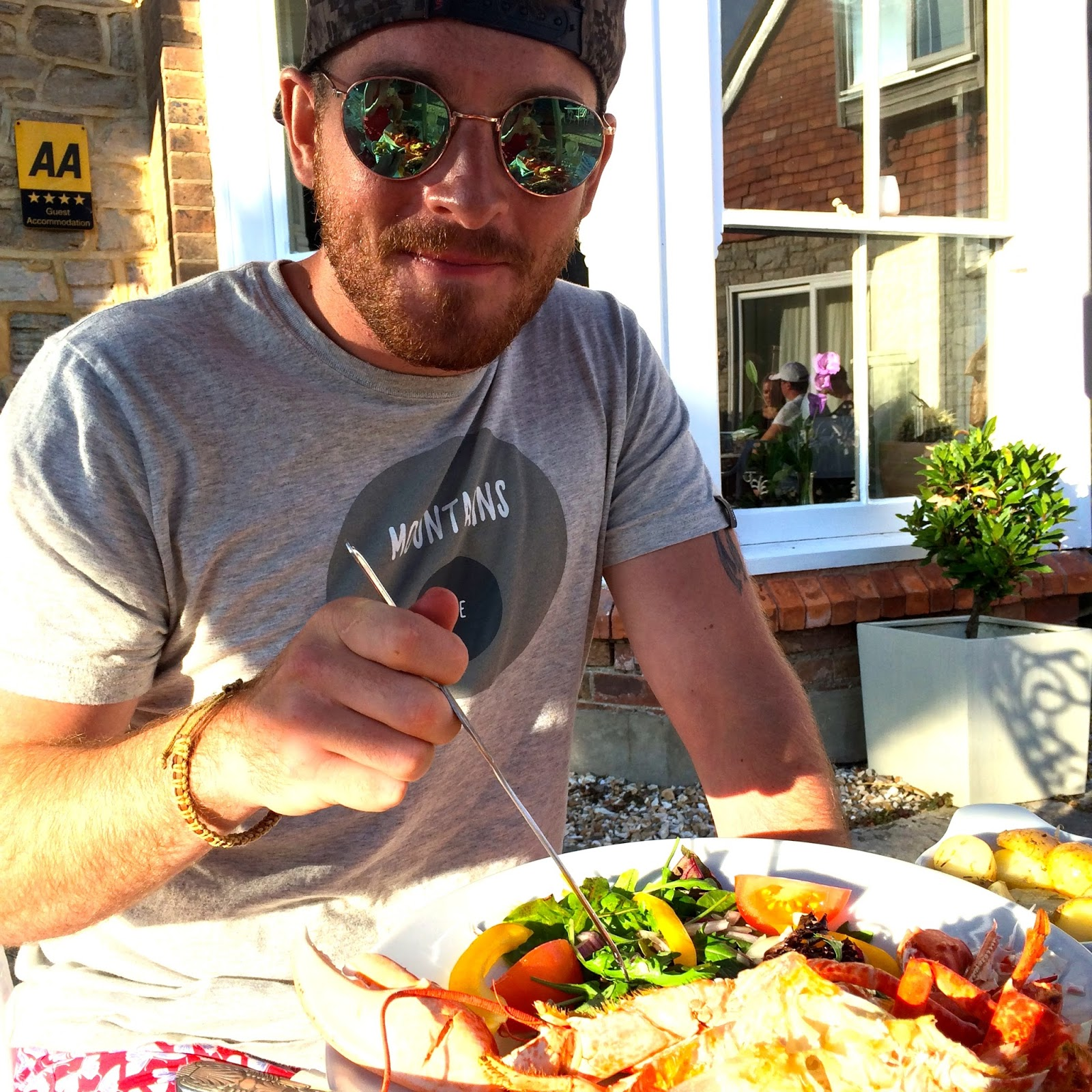 Lobster at Lulworth Cove, food bloggers, UK lifestyle blog