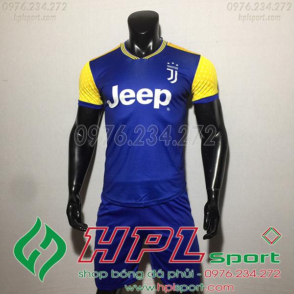 Áo bóng đá câu lạc bộ Juvetus training xanh