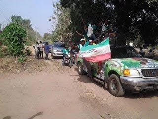 PDP supporters burn brooms in Benue