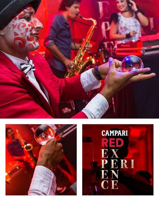 Atração artística malabarista contato de Humor e Circo para evento da marca Campari em Salvador