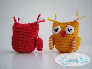 L'accroche laine - Titi et Houhou - Les Hiboux