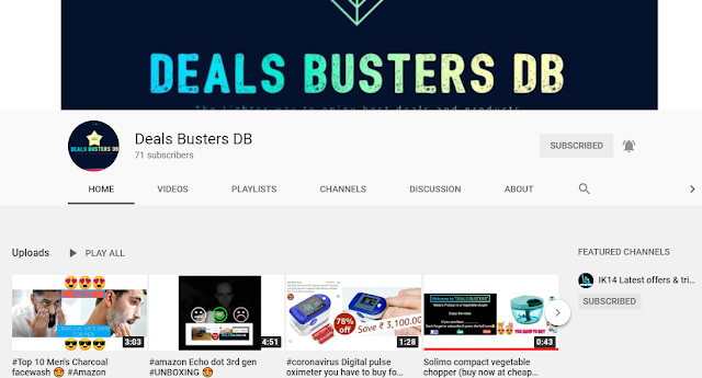 Official Youtube Channel Deals Busters DB