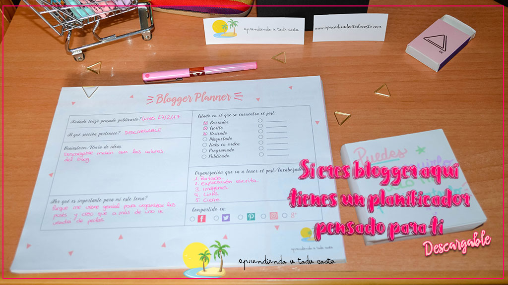 Si eres blogger, aquí tienes un planificador pensado para ti