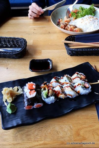 Sushi mit Lachs im Taumi in Karlsruhe
