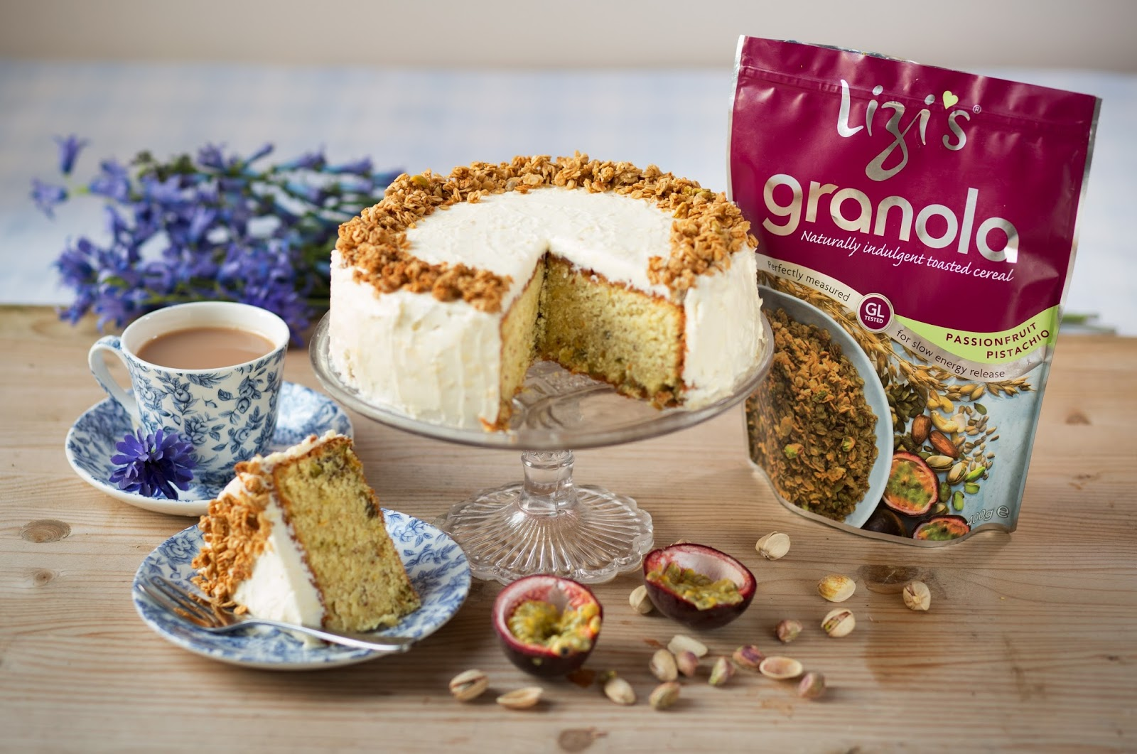 Passion Fruit And Pistachio Cake: Afternoon Tea Recipe
