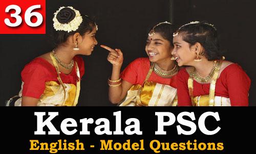 Kerala PSC - Model Questions English - 36
