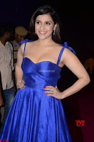 Mannara Chopra in Deep Neck Blue Gown at Zee Telugu Apsara Awards ~  Exclusive 035.jpg