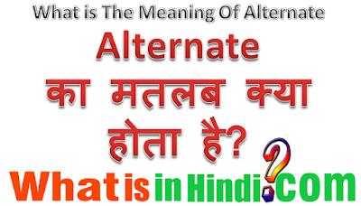 Alternate का मतलब क्या होता है