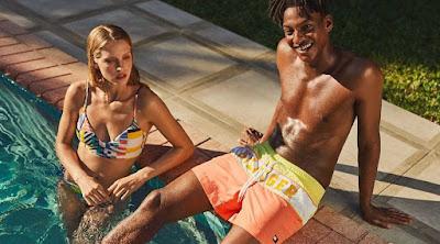 Tommy hilfiger, colección baño, moda verano 2019, bañadores, bermudas, bikinis, trajes de baño,