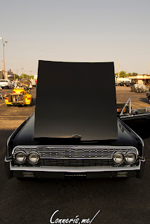 Lincoln Continental open hood