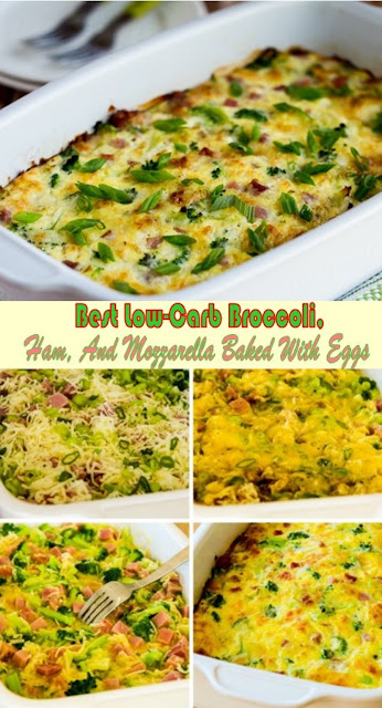 Best Low-Carb Broccoli, Ham, And Mozzarella Baked With Eggs