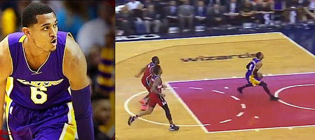 Jordan Clarkson's Fastbreak Dunk vs. Wizards (VIDEO)