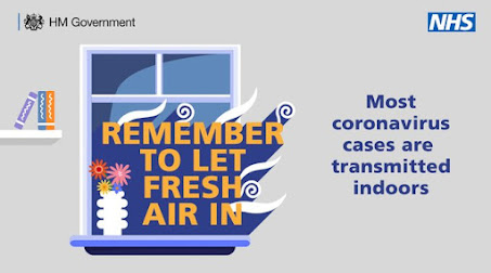 Remember to let fresh air in Image of an open window