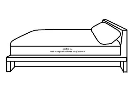 Mewarnai Gambar Tempat Tidur