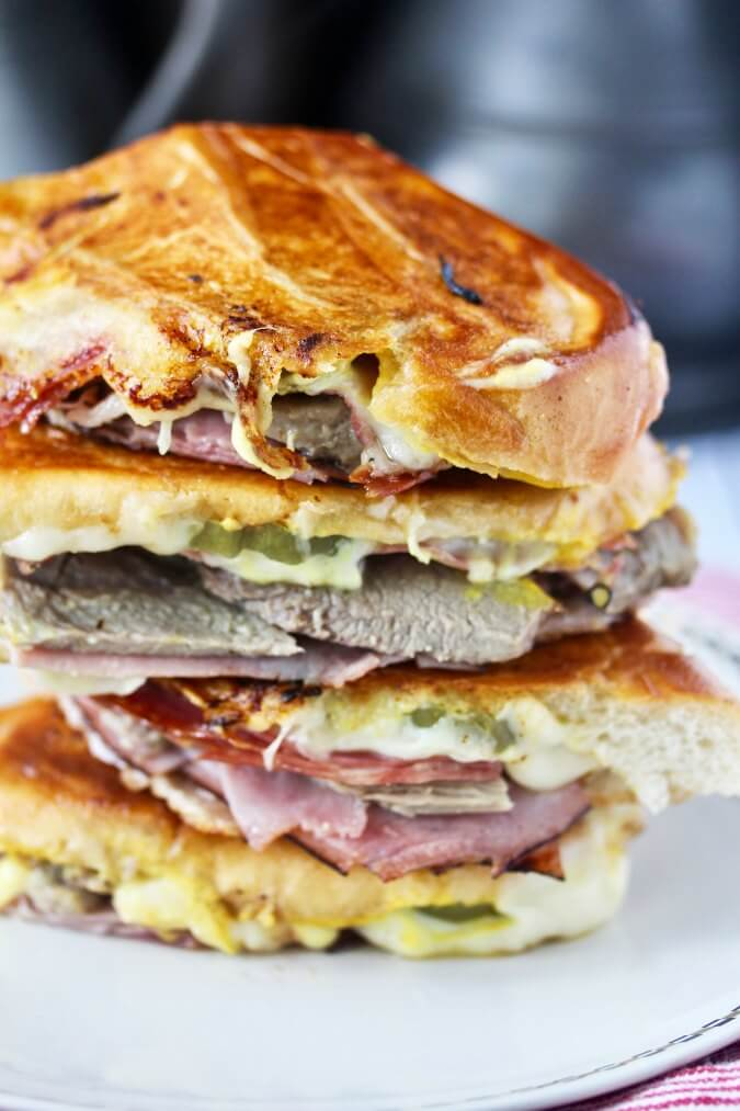 The Cuban Sandwich stacked
